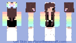 lovely rainbow Minecraft Skin