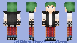 Pixel_Lime (Punk) Minecraft Skin