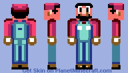 Super Mario World - Mario Minecraft Skin
