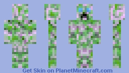 Charged Creeper Minecraft Skin