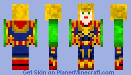 Captain Marvel 2019 for downloaders and online Minecraft Skin