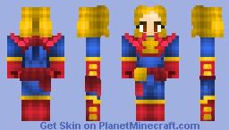 Captain Marvel All new Diffrent,Captain marvel movie 2019 Minecraft Skin