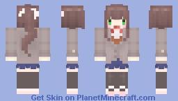 🌷) DDLC monika Minecraft Skin