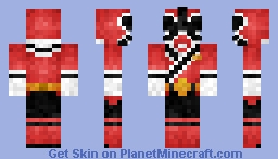 Shinken Red シンケンレッド Minecraft Skin