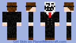 Admin with troll mask Minecraft Skin