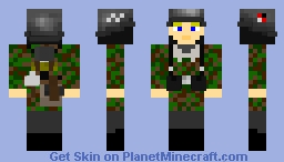 1st SS Panzer Division Leibstandarte SS A.H Soldier (without Camo cover) Minecraft Skin