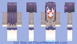 🌷) DDLC yuri Minecraft Skin