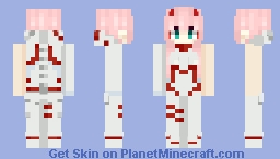 Code: 002 / Zero Two (Wounded) - Darling in the FranXX Minecraft Skin