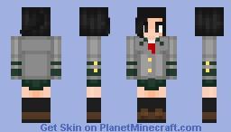(BNHA) Momo Yaoyorozu School Uniform Minecraft Skin
