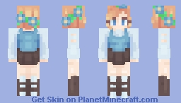 more blue! Minecraft Skin