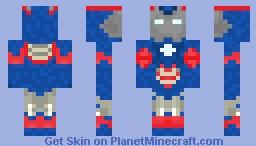 Iron Patriot Minecraft Skin