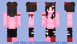 Satanic Kawaii Girl Minecraft Skin