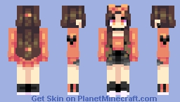 peach heart Minecraft Skin