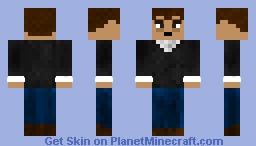 Depressed Humanoid Figure Minecraft Skin
