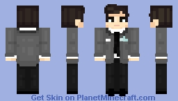connor (detroit: become human) 💙 Minecraft Skin