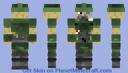 Wolfenstein: Uber Soldat Prototype Minecraft Skin