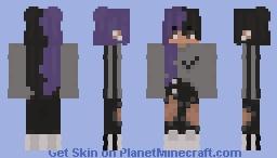 Purple Nike Girl Minecraft Skin