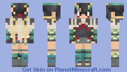 Rayquaza Zinnia Fusion Minecraft Skin