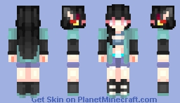 Tiru Konji || Silver-Fox Kitsune || Skin Request Minecraft Skin