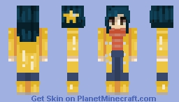 coraline inspired rainy day gal Minecraft Skin