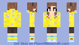 Girl donut hoodie Minecraft Skin