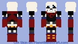 Swapfell-Red Sans Minecraft Skin