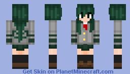 (BNHA) Tsuyu Asui School Uniform Minecraft