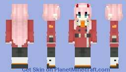 Code: 002 / Zero Two - Darling in the Franxx [DITF] Minecraft Skin