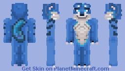 ﴾ξꭚꞕꝍ₮₮ἷ﴿ Blue Wolf - ମequest Minecraft Skin
