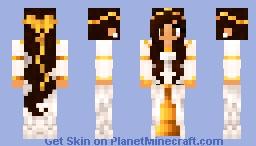 Girl-whitegolden Minecraft Skin