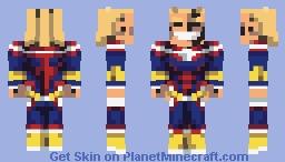 ɪ ᴋᴇᴇᴘ ᴍʏ ɪᴅᴇᴀʟs - All Might | MHA Minecraft Skin
