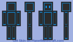 Grey On Blue (For Bale8) Minecraft Skin