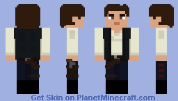 Han Solo: A New Hope Minecraft Skin