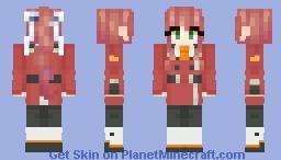~Just~ Monika - Doki Doki in the Franxx [DDLC x DitF] Minecraft Skin