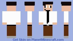 office guy Minecraft Skin