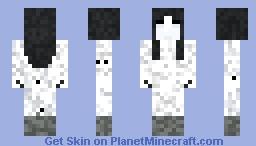 Girl spirit haunting minecraft cemetery (start of a series) Minecraft Skin
