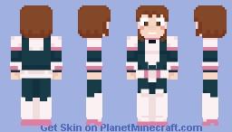 Ochaco Uraraka Minecraft Skin