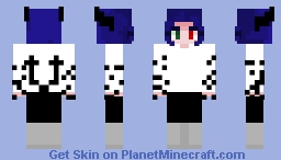 Dark Magic Demon Girl Minecraft Skin