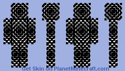 (Black And White) Illusion Minecraft Skin [Made in 2015] Minecraft Skin