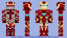 Iron Man Mark 50 on titan planet/ Avengers 4 End Game Iron Man Minecraft Skin
