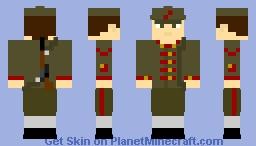 Russian Bolshevik Red Army Soldier - Russian Civil War 1917-1923 Minecraft Skin
