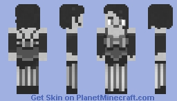 Dancer of the Twenties #grayscale Minecraft Skin