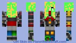 megazord unmasked Minecraft Skin