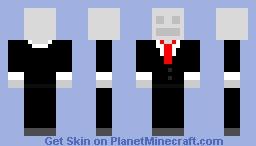 Slender Man simple Steve Minecraft Skin