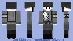 Krieg ist Krieg ~ Grayscale Contest Minecraft Skin