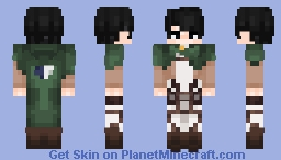 Levi - Attack on Titan Minecraft Skin