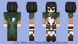 Mikasa Ackermann - Attack on Titan Minecraft Skin