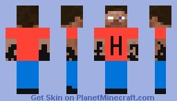 yarı steve yarı herobrine Minecraft Skin