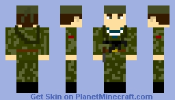 soviet red army commando 1943-1945 with PPS-43 smg and knife Minecraft Skin