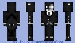 Lord Black Cat's suit - Black & White skin contest Minecraft Skin